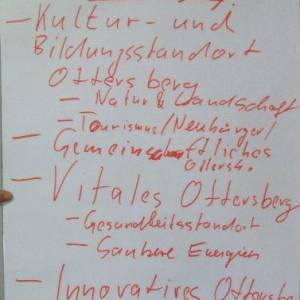 """Unter dem Generalmotto """"Lebenswertes Ottersberg"""" finden sich vier Einzelaspekte."""